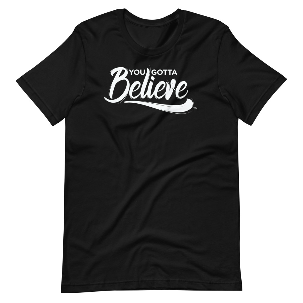 Gold Tone Printed Allow Yourself To Believe Short-Sleeve Unisex T-Shirt